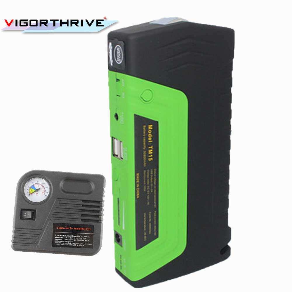 hot sell Charger Power Bank for Electronics Car Jump Starter AUTO Engine Booster Emergency Start Battery Portable with pump