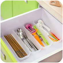 vanzlife style home creative drawer multipurpose sorting Plastic box kitchen accessoories ganizer cutlery plastic storage boxs(China)