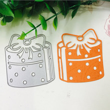 Christmas Gift Metal Cutting Dies for Scrapbooking DIY Album Embossing Folder Paper Card Maker Template Decor Stencils Crafts merry christmas trees sticker painting stencils for diy scrapbooking stamps home decor paper card template decoration album