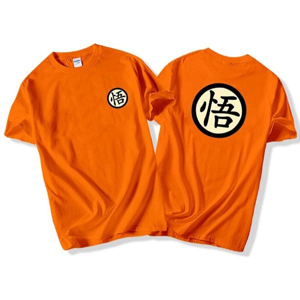 Dragon Ball T shirt Men Black Goku T-shirt Male Tee Shirts Black White High Quality 2018 Summer