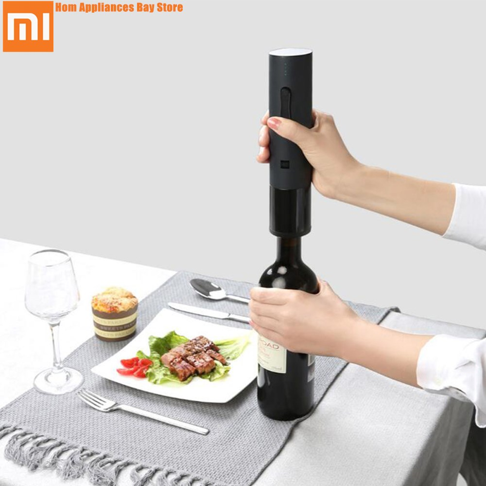 Xiaomi Mijia Huohou Automatic Red Wine Bottle Electric Corkscrew Foil Cutter Cork Out Tool 6S Opener for Xiaomi Smart Home Kits fashion windproof butane gase lighter w red wine bottle opener 2 led lights gold silver