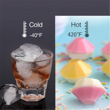 Diamond Shape 3D Silicone Ice Cube Mold Chocolate Cake Candy Mould Bar Party Drinking Cocktail Whiskey Wine Ice Cube Tray