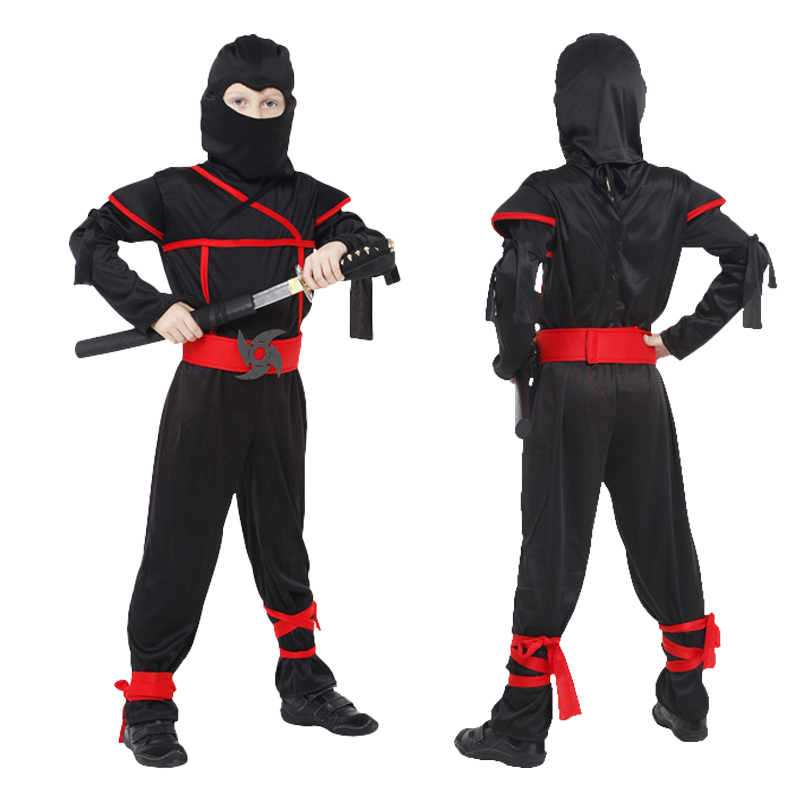 Free shipping Boys Children Costumes Martial Arts Ninja Cosplay Costumes For Kids Day Halloween Fancy Party Decorations dress up