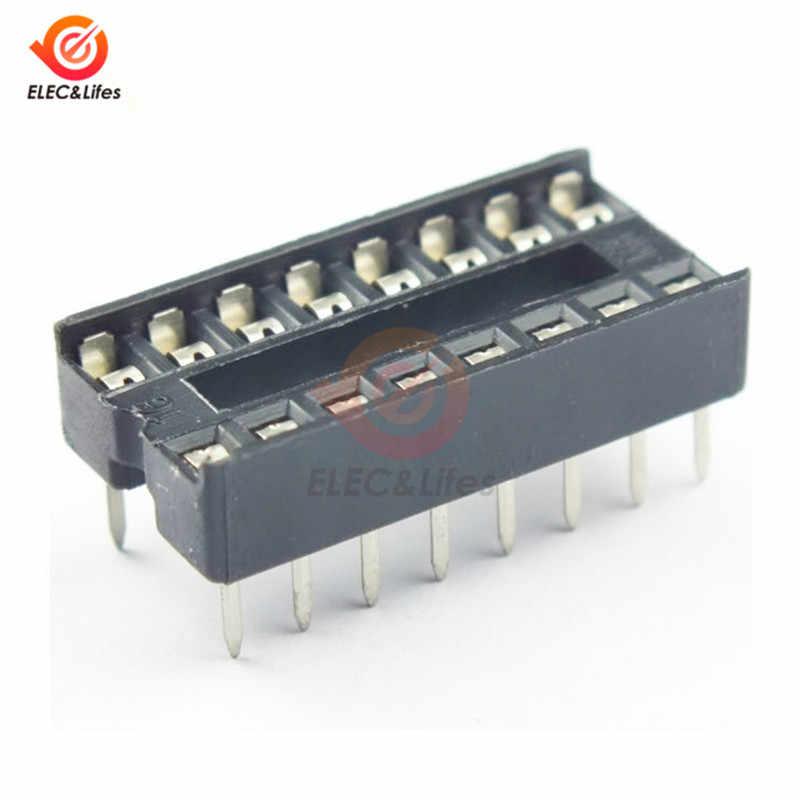 10 قطعة 16 دبابيس 16 دبوس 16 P DIP IC رقاقة Sockets محول موصل لحام نوع المقبس 100% الأصلي DIY بها بنفسك