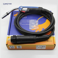 CO2 torch BW 24KD torch accessories 24KD gas torch 5 meters full copper wire ,European interface Welding Torches