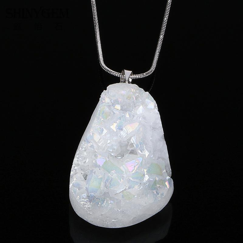 Nature Druzy Pendant Opal Necklace Natural Stone Pendants Irs