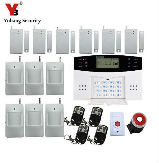 Best Price Yobang Security wireless GSM alarm system Metal Remote Control Voice Prompt Wireless door sensor Home Security GSM Alarm