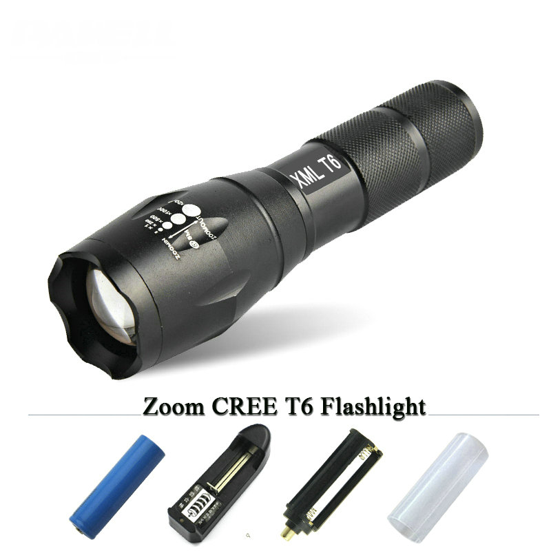Powerful CREE XM L2 chip 5 Modes 5000LM 18650 light rechargeable LED Flashlight Waterproof Zoomable torch tactical flashlight cree xm l2 flashlight 5000lm adjustable zoomable led xm l2 flashlight lamp light torch lantern rechargeable 18650 2chargers z30