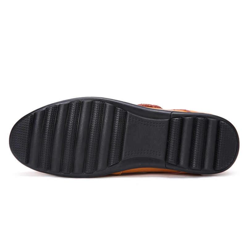 VKERGB 2018 الربيع البازلاء الأحذية الجلدية أحذية رجالي لينة أسفل الرجال الأعمال حذاء كاجوال الصيف الأزياء البريطانية قدم جلدية