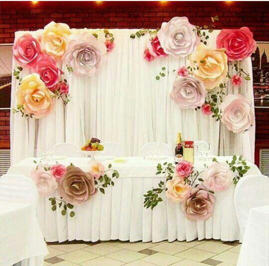more color size DIY paper flower Backdrop for wedding