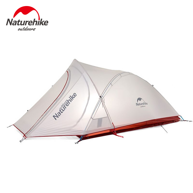 Naturehike Waterproof Backpacking Tent 2 People Ultralight Camping Tents Portable Outdoor Hiking Travelling Sun Shelter With Mat 2 people portable parachute hammock outdoor survival camping hammocks garden leisure travel double hanging swing 2 6m 1 4m 3m 2m
