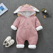 OKLADY 2019 Winter Baby Romper Clothes Toddler Girl Autumn Newborn Hoodies Warm Infant Cute Cotton Boys Kids Modis Outfits 12M gemtot infant baby clothing romper toddler warm crawling clothes baby autumn and winter to go out wearing