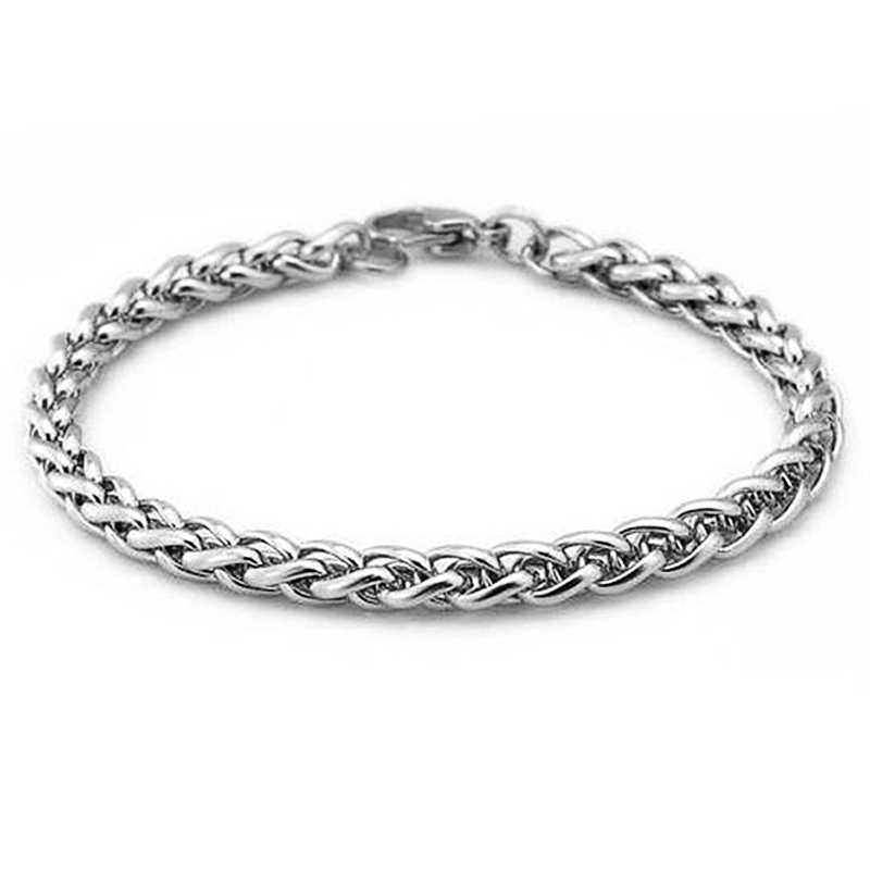 knit keel Wheat Stainless steel bracelet 4/5/6mm diy jewelry bangle for men women High Quality Wholesale 1pcs