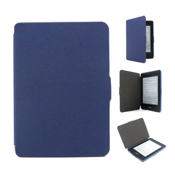 [Free DHL] Ultra Slim PU Leather Protective Case for Amazon Kindle Paperwhite 1/2/3 with Auto-Turn On/Off Function - 200pcs