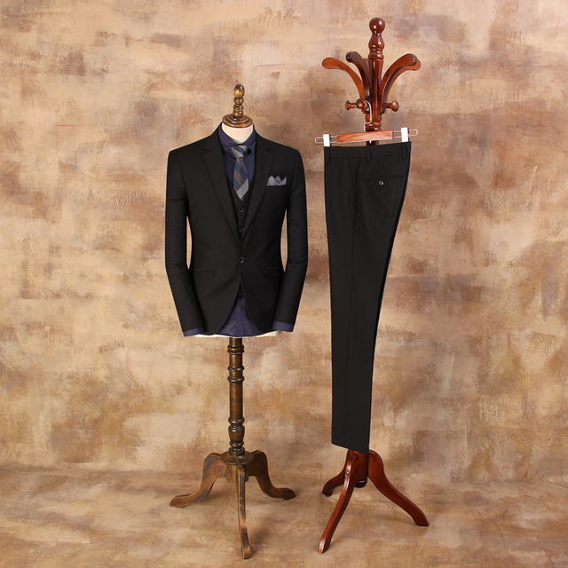 2019 New Arrival Male Fashion Banquet Wedding Suits Mens Black Suit Jackets Man Business Suits For Casual wear WT081C