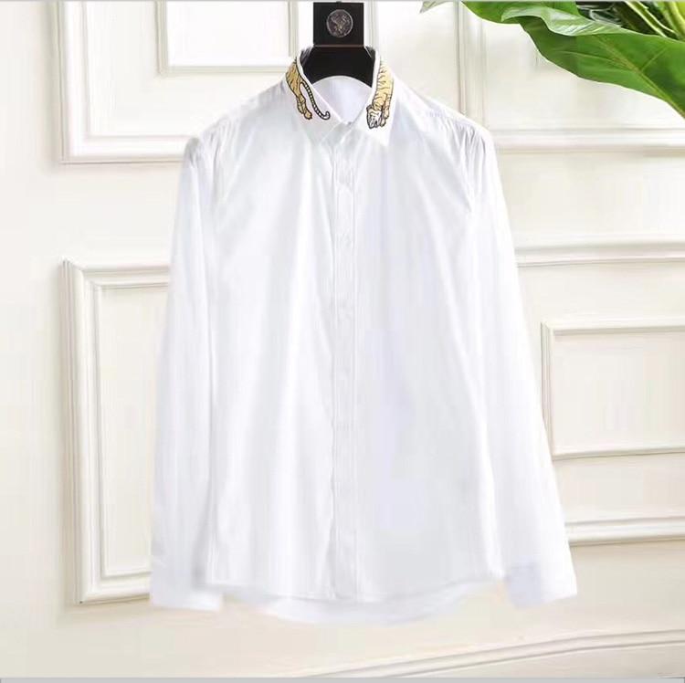 Hemden Angemessen Männer Der Regelmäßige-fit Langarm Weiß Schwarz Orange Basic Kleid Hemd 100% Mercerisierter Baumwolle Formale Business Shirts Für Arbeit Büro