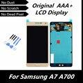 100% Высокое Качество Оригинала LCD Сенсорный Дисплей Планшета Ассамблеи для Samsung Galaxy A7 A700 A7000 Золотой Цвет Запасные Части