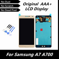 100% High Quality Original LCD Touch Display Digitizer Assembly for Samsung Galaxy A7 A700 A7000 Gold Color Replacement Parts