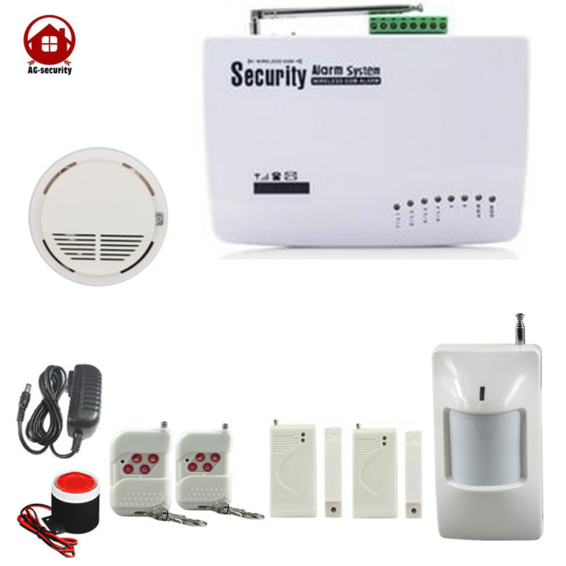 Wireless English Russian Spansih Voice Prompt SIM Auto Dialing Call Home Security GSM Alarm System AG-security Factory wireless service call bell system popular in restaurant ce passed 433 92mhz full equipment watch pager 1 watch 7 call button