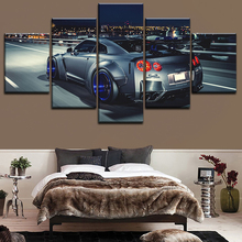 5 Pieces Nissan Skyline Gtr Poster Canvas HD Printed Painting For Modern Decorative Bedroom Wall Art Urban Landscape Picture