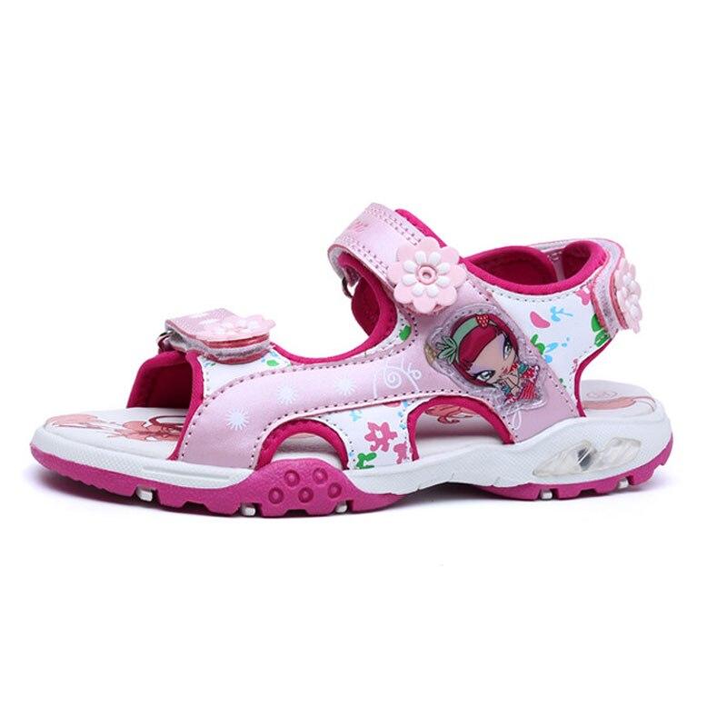 meisjes sandalen zomer nieuwe stijl kinderen schoenen meisje mode - Kinderschoenen - Foto 2
