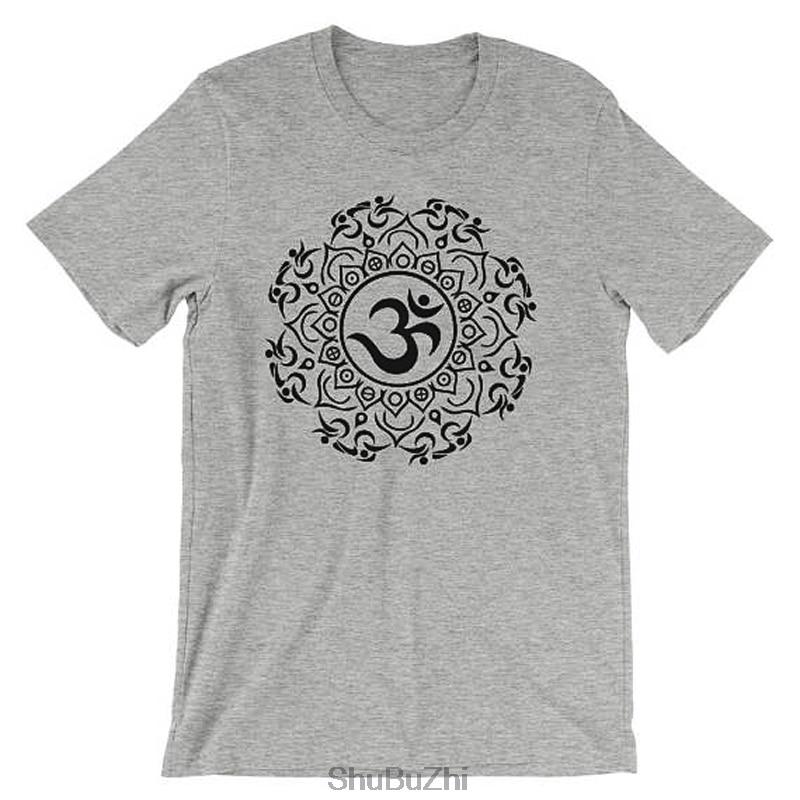 TRI'MASTE Triathlon Triathlete Om Mandala Symbol Tshirt - Spirituality Fire, Water, Air, Earth Spiritual Design -o-neck T-Shirt