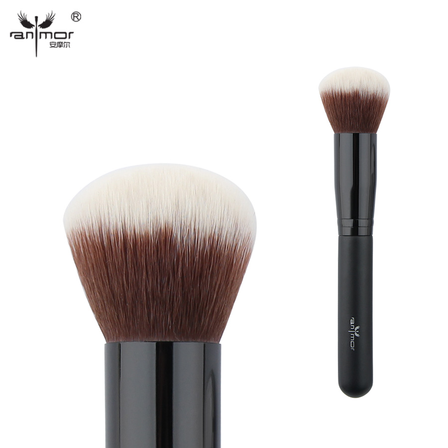 Anmor Synthetic Hair Large Powder Brush Extremely Soft Professional Makeup Brushes PL06S foer j s extremely loud