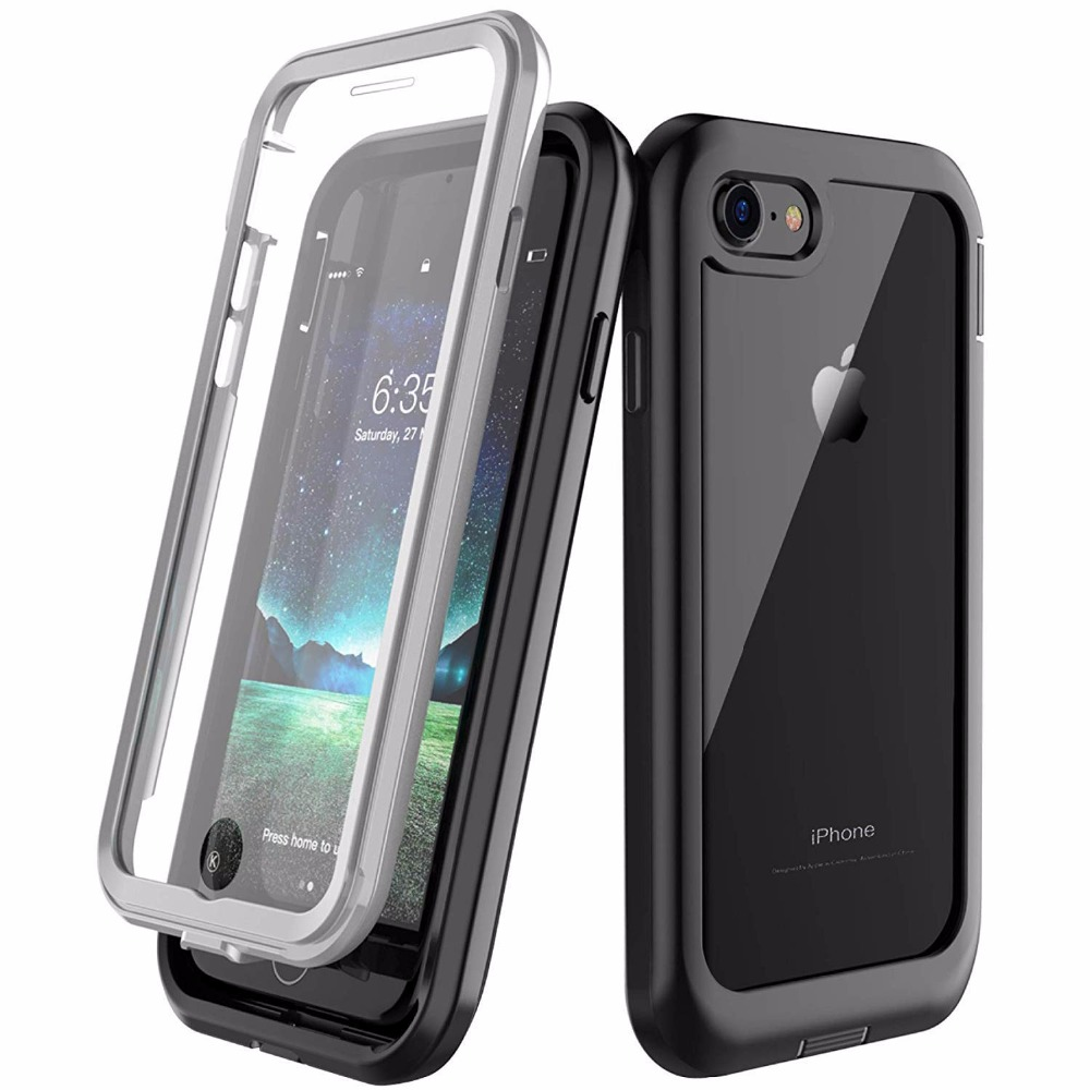 For iPhone 7 8 case Shock Dirt Snow Proof Protection With Touch ID for iphone 7 8 Plus 360 Degree Full Body Phone Case Cover in Fitted Cases from Cellphones Telecommunications