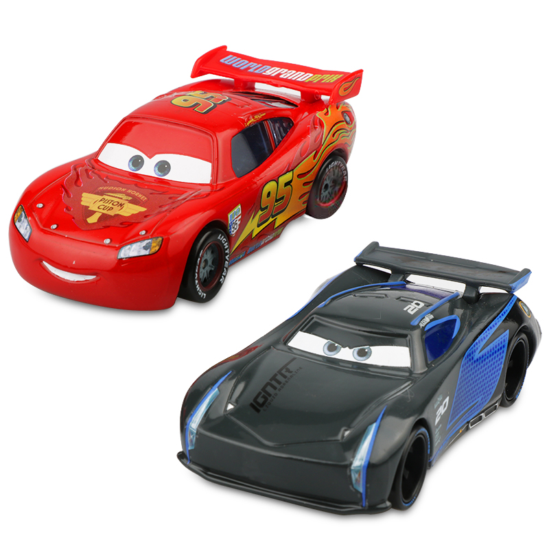 Disney Pixar Racing Cars 2 3 Toys Lightnig McQueen Mater Jackson Storm Ramirez 1:55 Diecast Metal Alloy Toys Model Figures Boys