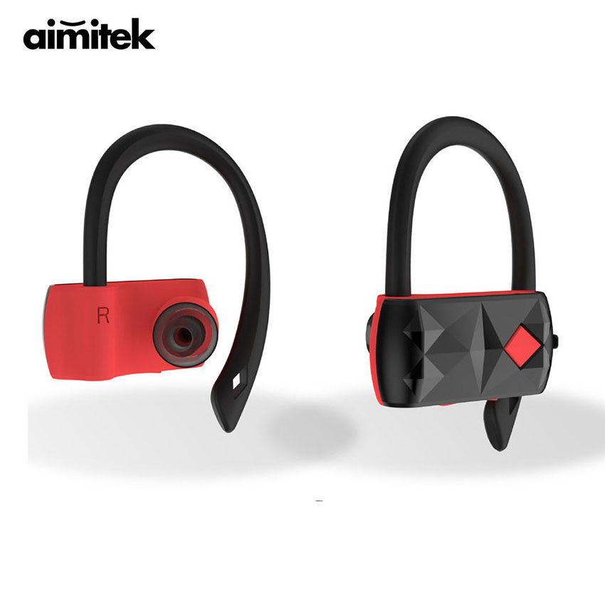 Aimitek A18 Dual TWS Bluetooth 4.2 Earphones True Wireless Stereo Headphones CSR Earbuds Hands-Free Sports Gym Headsets with MIC picun p3 hifi headphones bluetooth v4 1 wireless sports earphones stereo with mic for apple ipod asus ipads nano airpods itouch4