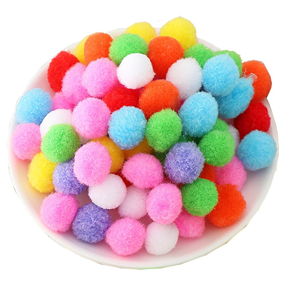 100-1000x DIY  pink Color Mini Soft Fluffy Pom Poms Pompoms Ball 8mm