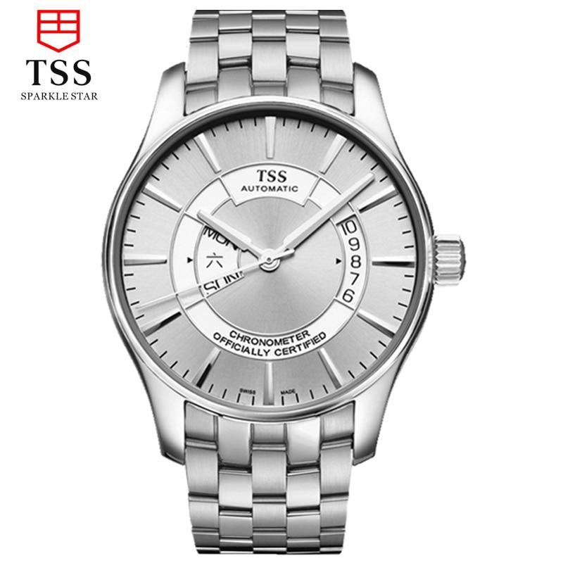 TSS explorer navigator japan MIYOTA 8205 Automatic movement Sapphire Crystal Top Brand Luxury wristwatches  виброплита тсс tss vp60s 207246
