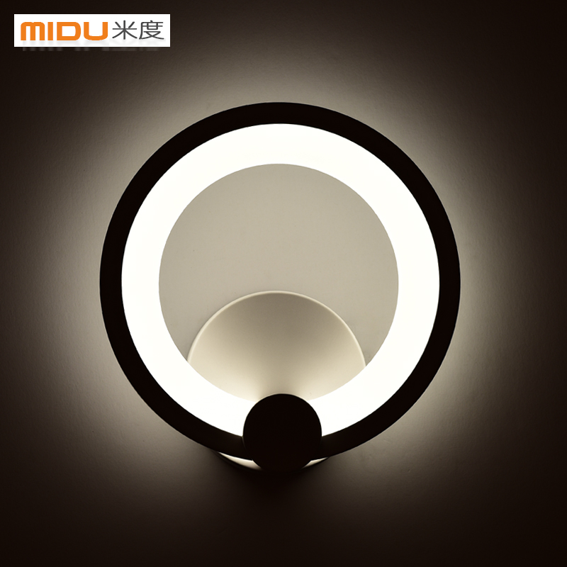 Метров Круглый акриловый Светодиодная спальня ночники простой современный проходу огни коридор крыльцо лампы