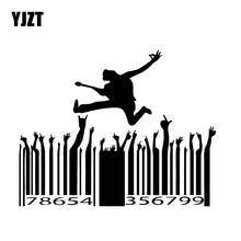 Yjzt 15.1cm * 12cm música carnaval janela louco vinil decalque bonito carro adesivo preto/prata C27-0040