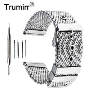 Ремешок для часов, из нержавеющей стали, 20 мм, 22 мм, 24 мм