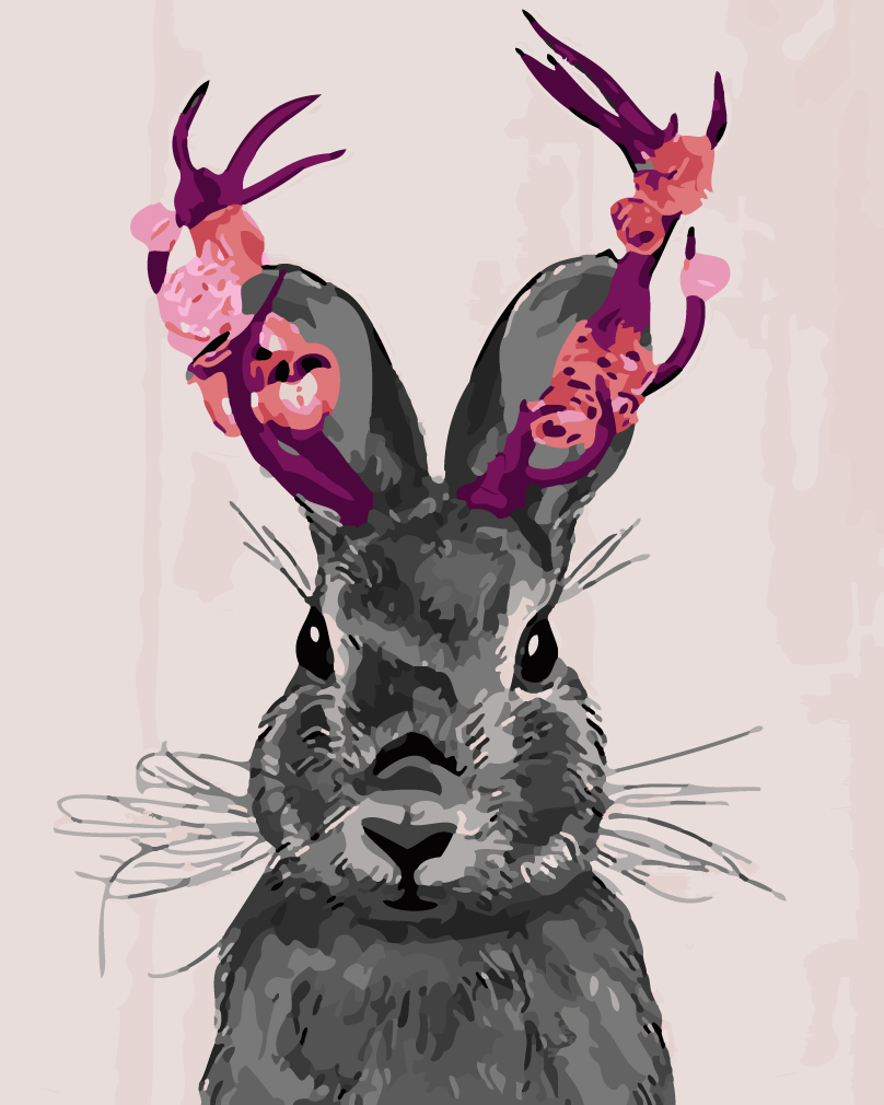 Coloring by numbers for rabbits - Frameless Rabbit Animals Diy Painting By Numbers Kits Coloring Painting By Numbers Handpainted Canvas Picture For