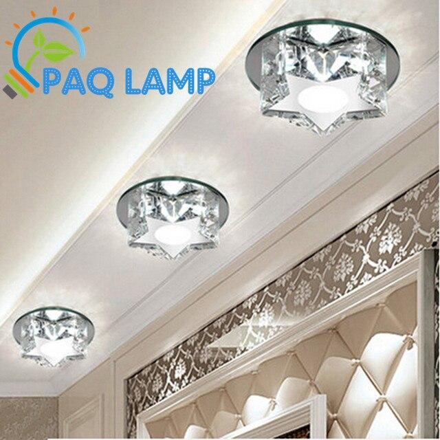 Modern Led Ceiling Lamp K9 Crystal Star For Corridors Aisle Lighting Porch Study Bedroom