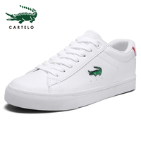 CARTELO women's shoes casual white shoes for men and women simple tie Korean version of the thick bottom sports students low to