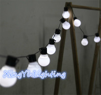 Low Price Novelty 5CM Big Size Ball 3M 20LED String Black Wire LED Starry Lights Christmas