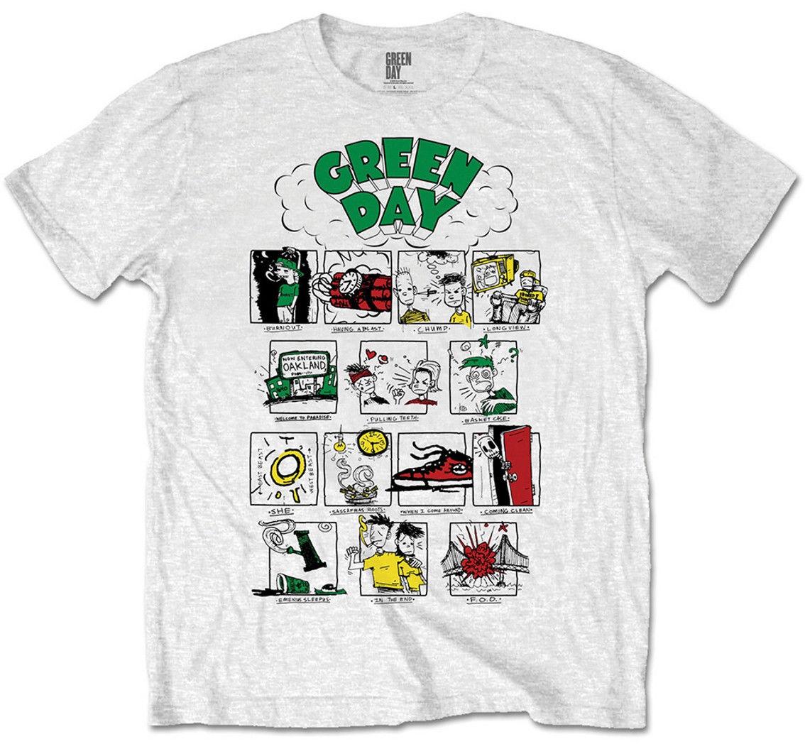 Green Day 'Dookie Comic Strip 'T-Shirt - NEU UND OFFIZIELL Novelty Cool Tops Men Short Sleeve T Shirt Solid Color