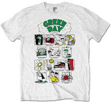 Green Day Dookie Comic Strip T-Shirt - NEU UND OFFIZIELL Novelty Cool Tops Men Short Sleeve T shirt Solid Color