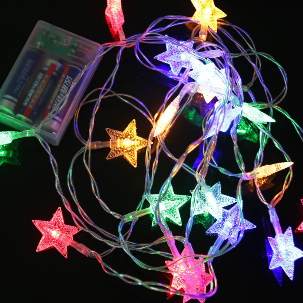 HobbyLane 20Leds Star color String Fairy <font><b>Light</b></font> Xmas Party <font><b>Home</b></font> Wedding Garden Garland Christmas Led <font><b>Lights</b></font> <font><b>Decoration</b></font> image