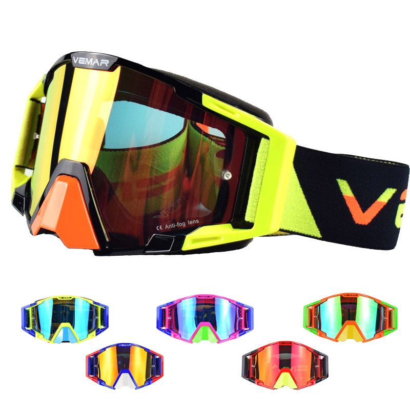 2018 Motocross Glasses Off-Road Dirt Bike ATV DH MX Motorcycle Glasses Racing Eyewear Skiing Motorcycle Goggles Replaceable Lens