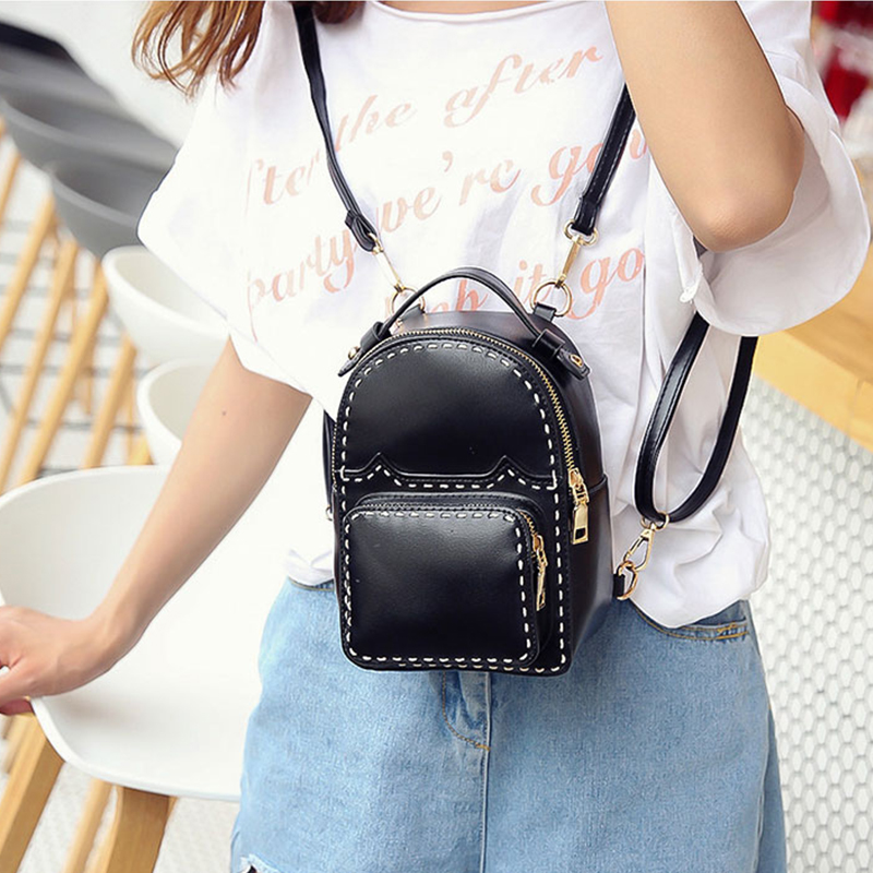 2017 Vintage pu leather feminine quilted small women pink backpack youth cute mini backpacks for teenage