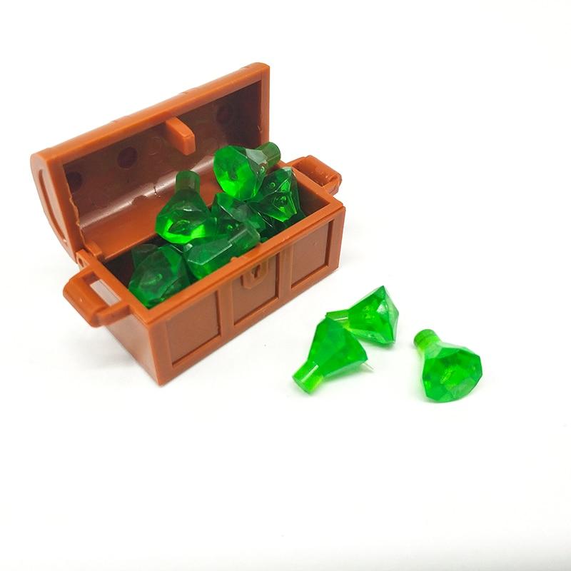 50pcs Accessories Parts Building Blocks Treasure Diamond Gem Stone Jewelry City MOC Bricks Toys Compatible Friends in Blocks from Toys Hobbies