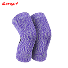 2 PCS Kuangmi Protective Knee Support Sports Pressurized Pads Running Volleyball Basketball Non-slip Nylon Knee Brace Sleeves pressurized fitness running cycling knee support braces elastic nylon knee pads nylon silk sports protective gear knee pads back