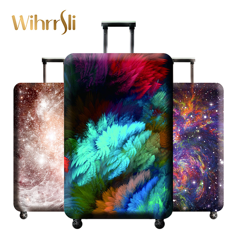 Diverse styles Travel accessories Luggage cover case for a suitcase protection dust cover Stretch Bright colors fabrics journey