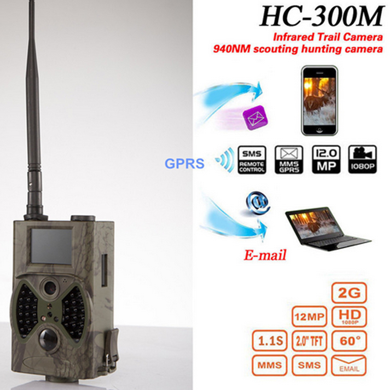 HC300M Full HD 12MP 1080P Video Night Vision Huting Camera MMS GPRS Scouting Infrared Game Hunter Trail Camera skatolly 3pcs lot hc300m full hd 12mp 1080p video night vision huting camera mms gprs scouting infrared game hunter trail camera