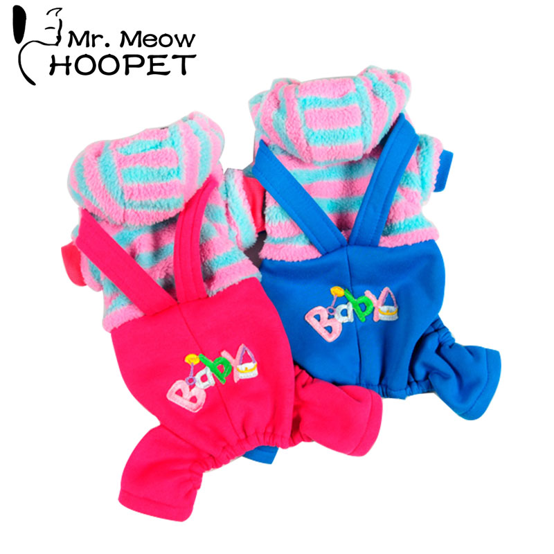 Hoopet pet clothes dog hoodie coat teddy suit cat puppy small dog cotton dress pet autumn winter clothing