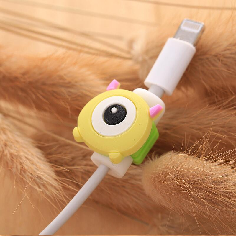 Protector de Cable de dibujos animados, Protector de Cable de línea de datos, carcasa protectora, cubierta de enrollador de Cable para iPhone, Cable de carga USB
